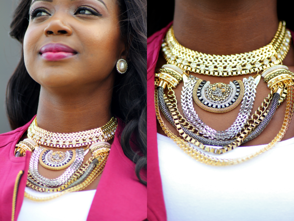 What wear how to wear a statement necklace london au for Words to wear jewelry