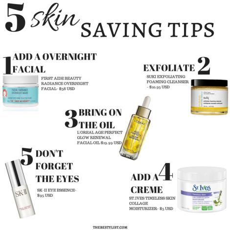 Besty List-Skin Saving Tips